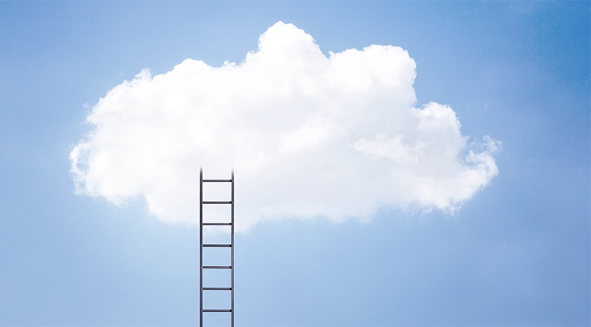 ladder into a cloud