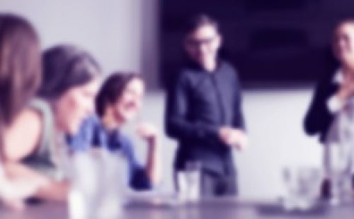 meeting blurred image