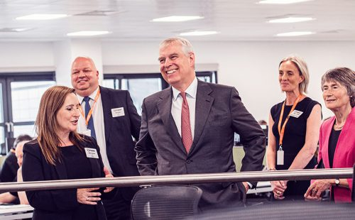 The Duke of York and Pulsant employees at the opening of the new Gateshead datacentre